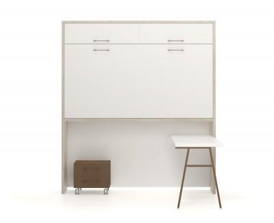 Klappbett und Schreibtisch