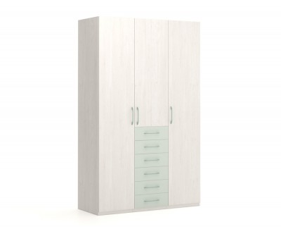 Kleiderschrank mit Flügeltüren und Schubladen