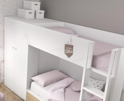Etagenbett mit Schubladenbett